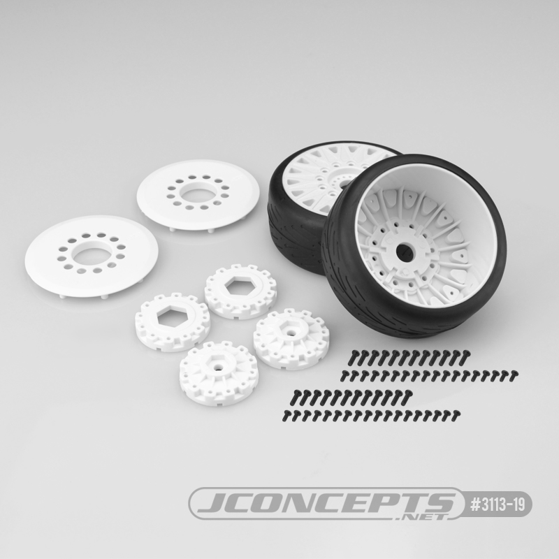 JConcepts Speed Fangs Pre-Mounted Belted Tires