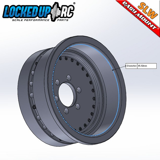 "Locked Up RC 1.9"" Difuser Wheel Plus SLW Internal"