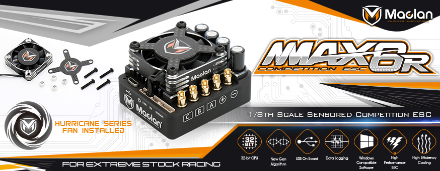 Maclan MMax 8R 1/8 Competition Sensored 200A ESC