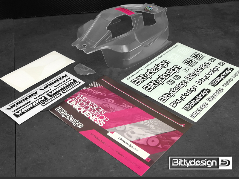 Bittydesign VISION Pre-Cut Clear Body For The XRAY XB8 2020