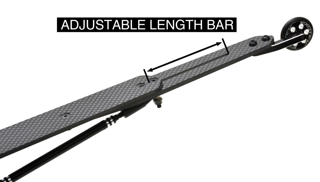 Exotek Carbon Fiber Adjustable Wheelie Bar Set For TLR 22