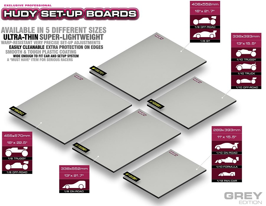HUDY Flat Set-Up Boards
