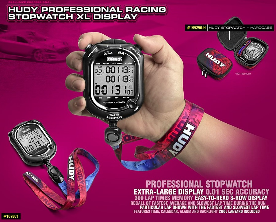 HUDY Professional Racing Stopwatch