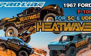 Pro-Line Pre-Cut 1967 Ford F-100 Race Truck Heatwave Edition Tough-Color Bodies For SC & UDR [VIDEO]