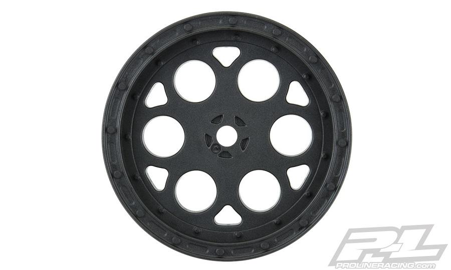 """Pro-Line Showtime 2.2"""" Sprint Car 12mm Hex Front Black Wheels"""
