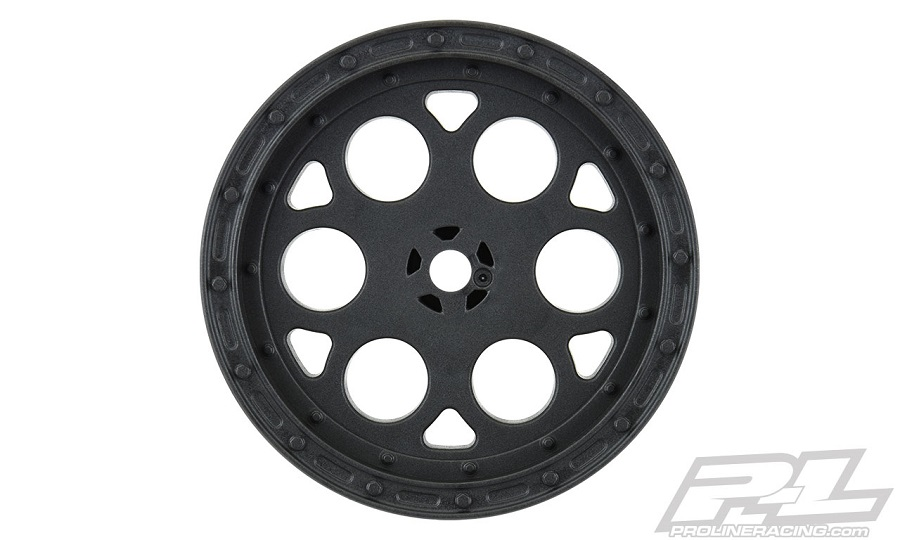 "Pro-Line Showtime 2.2"" Sprint Car 12mm Hex Rear Black Wheels"
