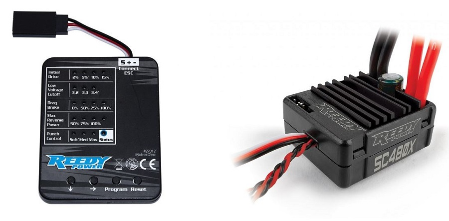 Reedy SC480X Brushed Crawler ESC & Program Card