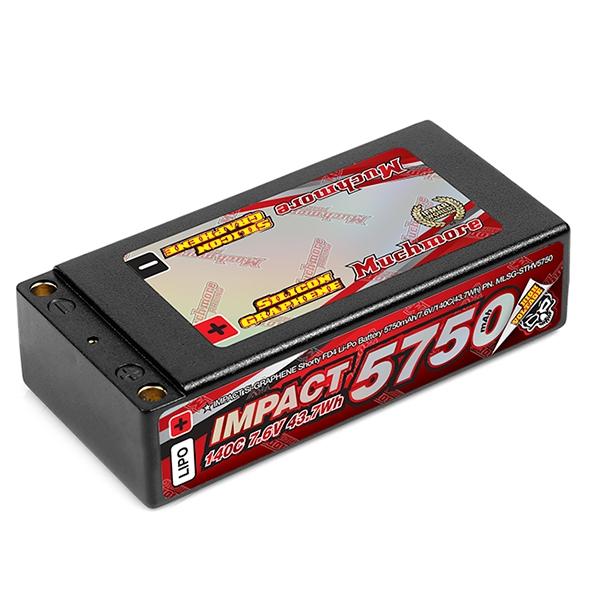 Muchmore IMPACT Silicon Graphene 5750mAh7.6V 140C Flat Hard Case Shorty LiPo Battery