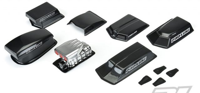 Pro-Line No Prep Drag Racing Optional Hood Scoops & Blowers (Clear)