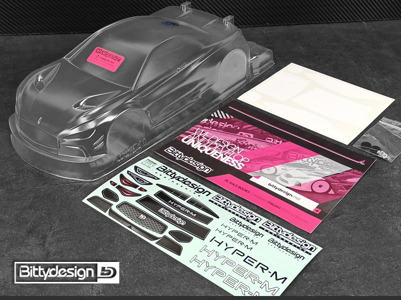 Bittydesign HYPER-M 1/10 M-Chassis Clear Body