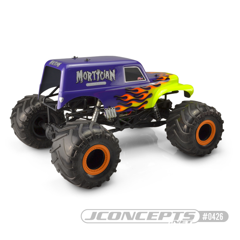 JConcepts JCI Mortician Clear Monster Truck Body