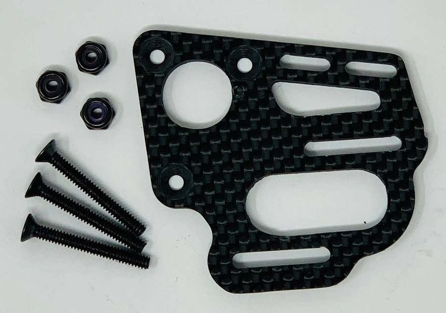 McAllister Racing Carbon Fiber Motor Plate For Custom Works Mid-Motor Outlaw / Rocket 4