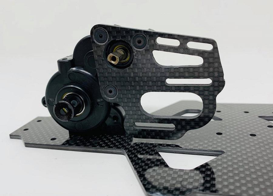 McAllister Racing Carbon Fiber Motor Plate For Custom Works Mid-Motor Outlaw / Rocket 4