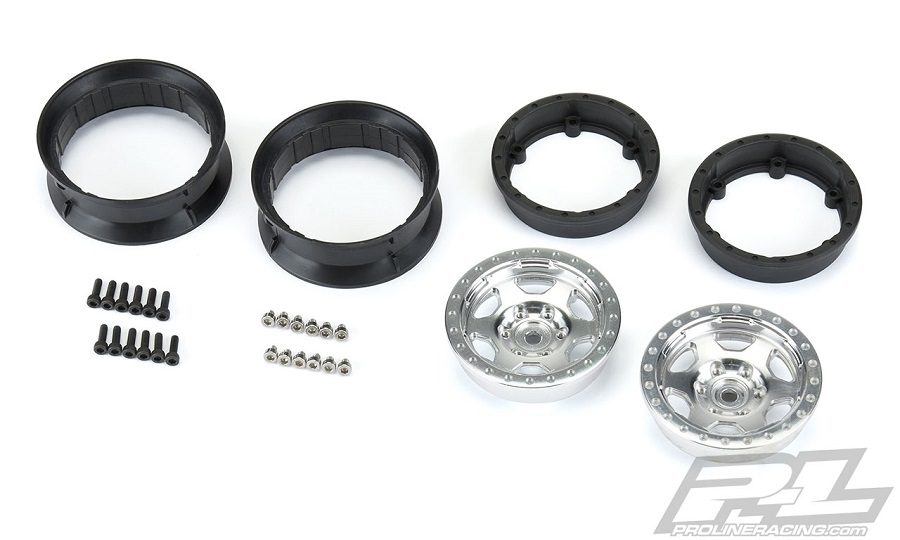"Pro-Line Crestline & Impulse 1.9"" Aluminum Composite Internal Bead-Loc Wheels"