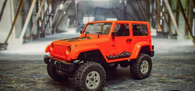 RC4WD 1/18 Orange Gelande II RTR With Black Rock Body Set [VIDEO]