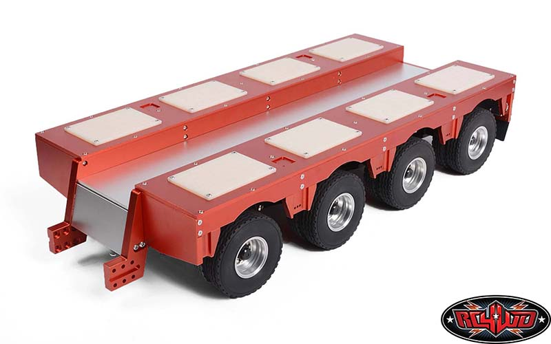 RC4WD Heavy Duty 4 Axle Lowboy Equipment Trailer