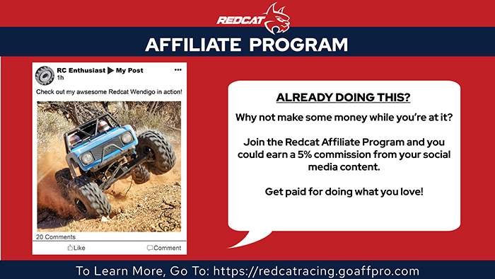 Redcat Announces Their New Affiliate Program