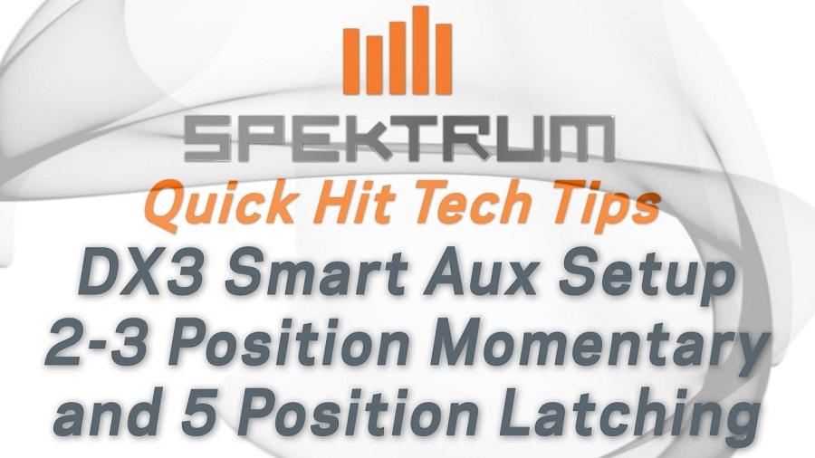 Spektrum Quick Hit Tech Tips - DX3 Smart AUX Setup For Dig, Winches & More