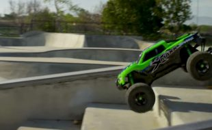 Traxxas X-Maxx Shreds SoCal Skate Park [VIDEO]