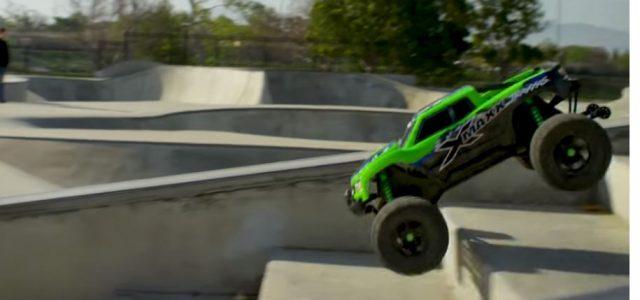 Traxxas X-Maxx Shreds SoCal Skate Park [VIDEO]