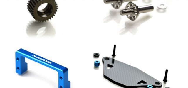Exotek Aluminum Idler Gear, Front Axle Set, Servo Mount & Carbon Fiber ESC Tray For The DR10