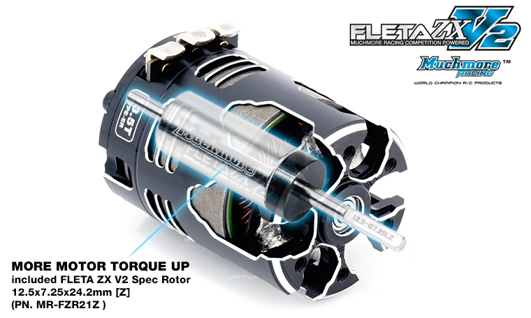 Muchmore FLETA ZX V2 21.5T ER Spec Brushless Motor With 21Z Rotor