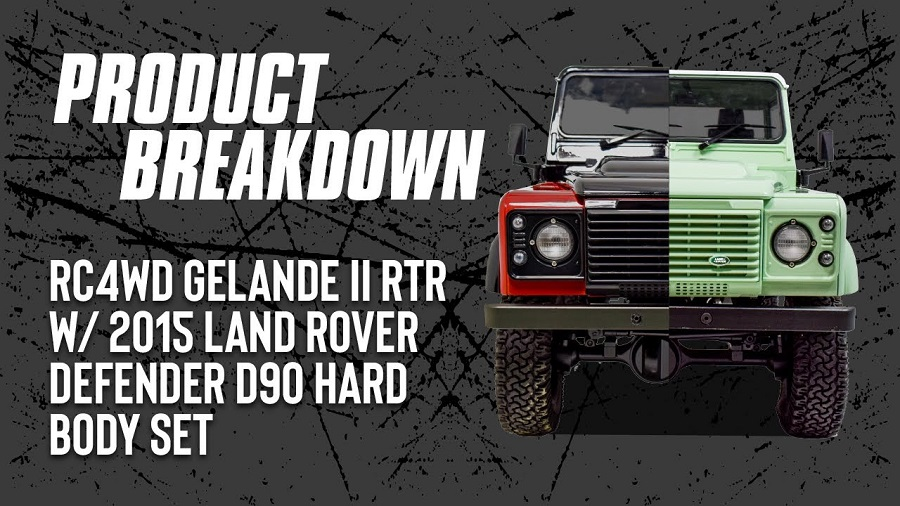 RC4WD Gelande II RTR With 2015 Land Rover Defender D90 Hard Body