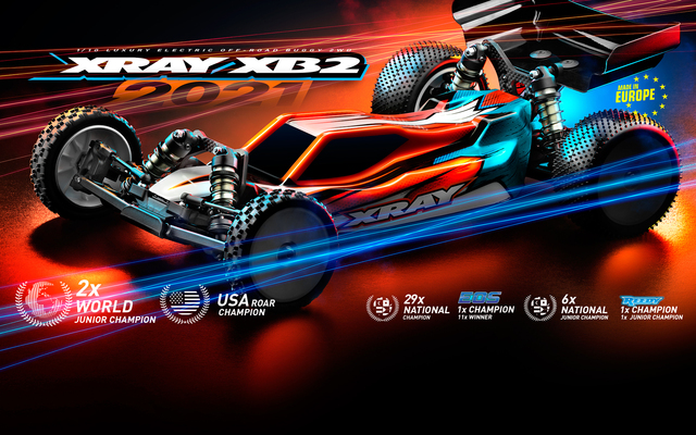 XRAY XB2 '21 2WD Buggy Carpet & Dirt Editions