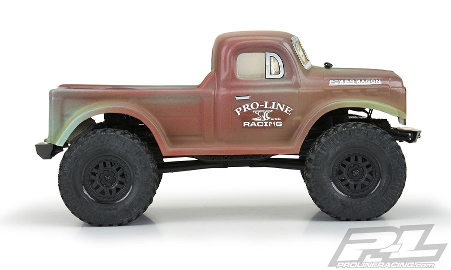 Pro-Line 1946 Dodge Power Wagon Clear Body For The SCX24