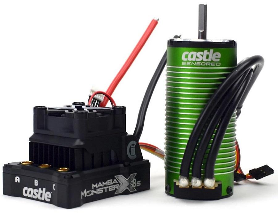 Castle Creations Mamba Monster X 8S ESC/Motor Combo With 1520 Sensored Motor (1650Kv)