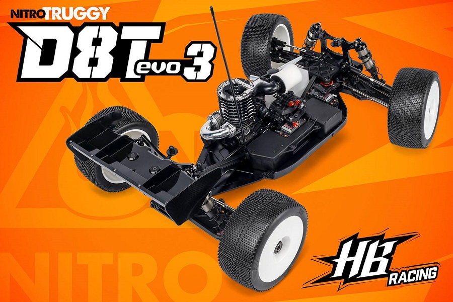 HB Racing D8T Evo3 18 Nitro Truggy Kit