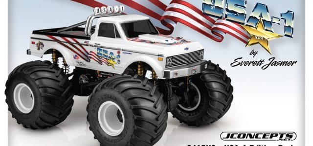 JConcepts 1970 Chevy K10 USA-1 Edition Monster Truck Body [VIDEO]