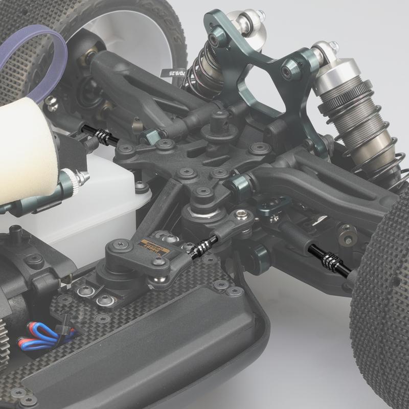 JConcepts Black Fin Titanium Turnbuckle Set For The Mugen MBX-8