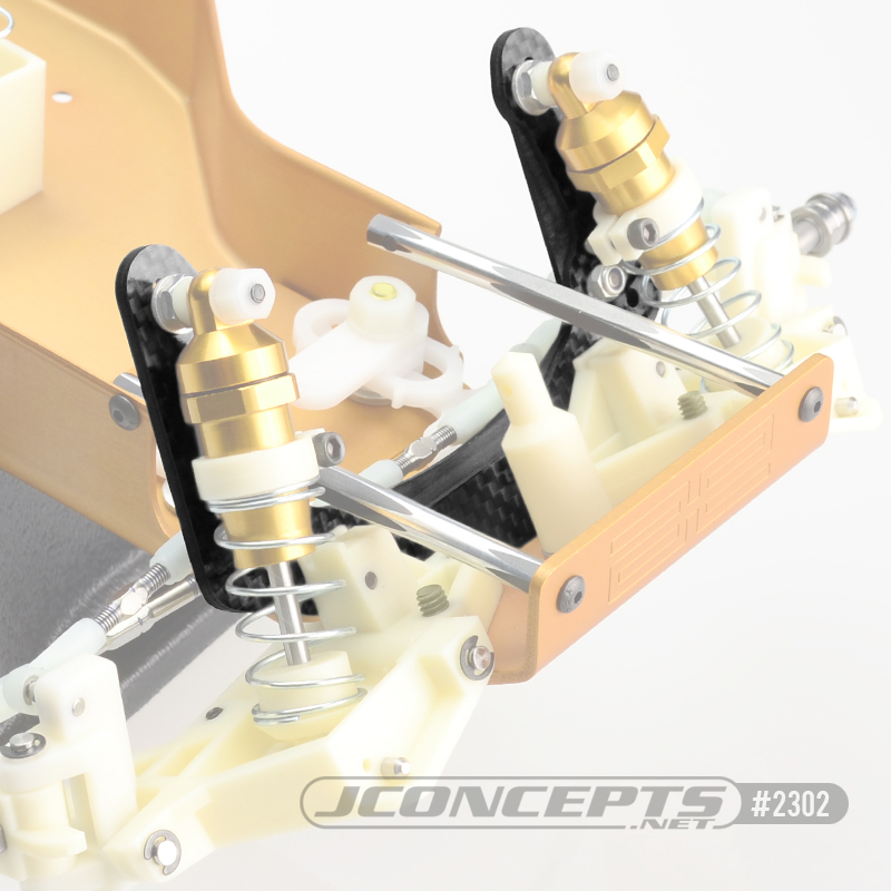 JConcepts Re-Releases RC10 Carbon Fiber Battery Brace & Front Shock Tower