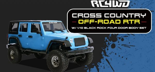 RC4WD Cross Country Off-Road RTR With 1/10 Black Rock Four Door Body [VIDEO]