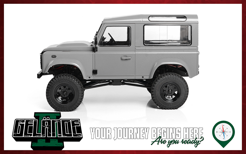 RC4WD Gelande II Kit With 2015 Land Rover Defender D90 Hard Body Set