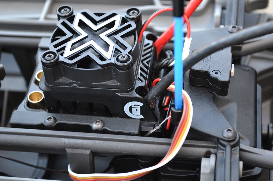RPM ESC Cage For The Castle Mamba X 8S ESC & The Traxxas X-Maxx