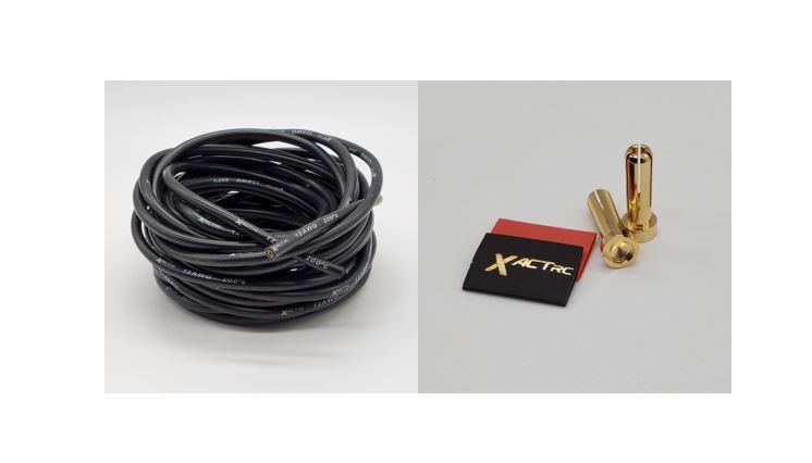 XactRC IRx 5mm Bullet Plugs & 12GA Black Wire