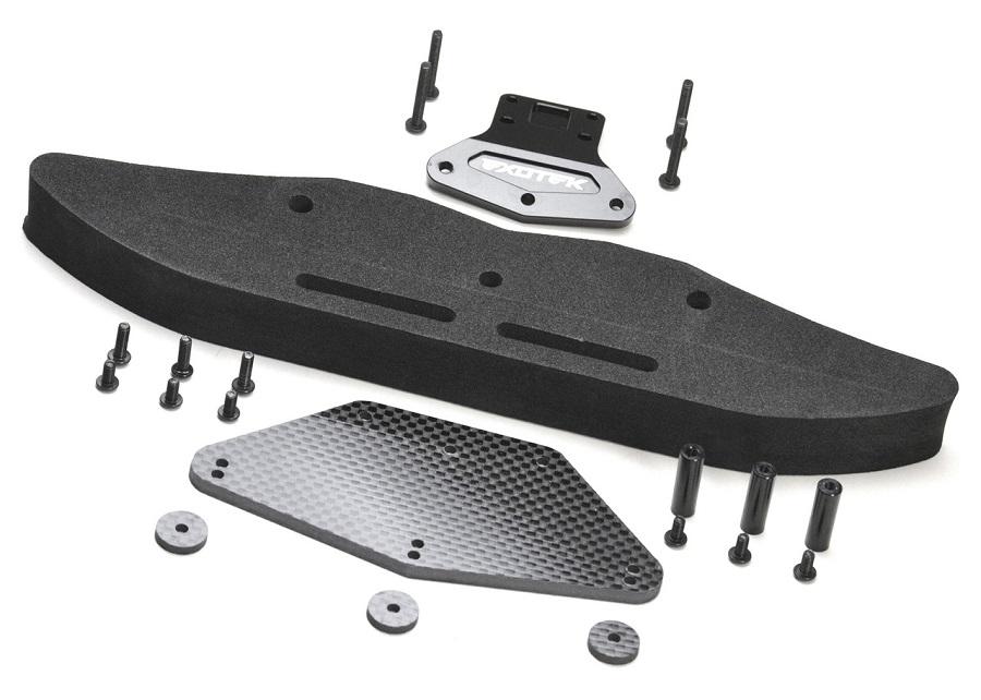 Exotek Carbon Fiber & Foam Bumper Set For The DR10