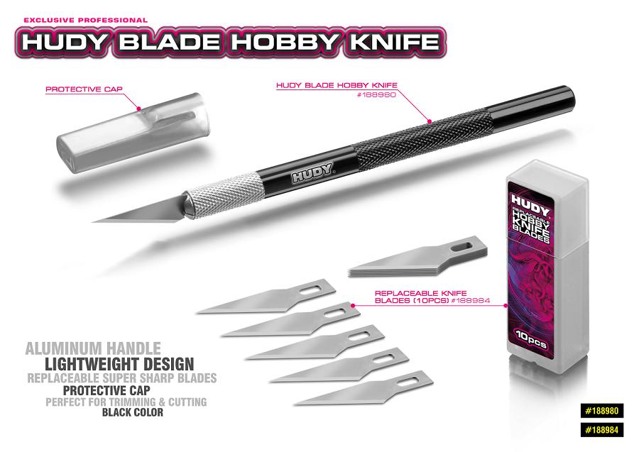 HUDY Blade Hobby Knife With Aluminum Handle (1)