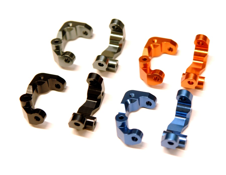 STRC Alum Steering Knuckles, Caster Blocks & Rear Hubs For The DR10