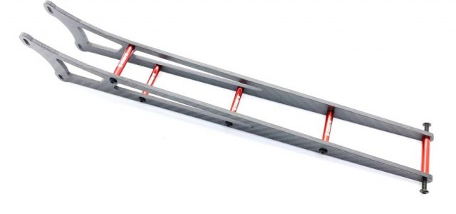 Assault RC Carbon Fiber Adjustable Street Eliminator Wheelie Bar For The DR10