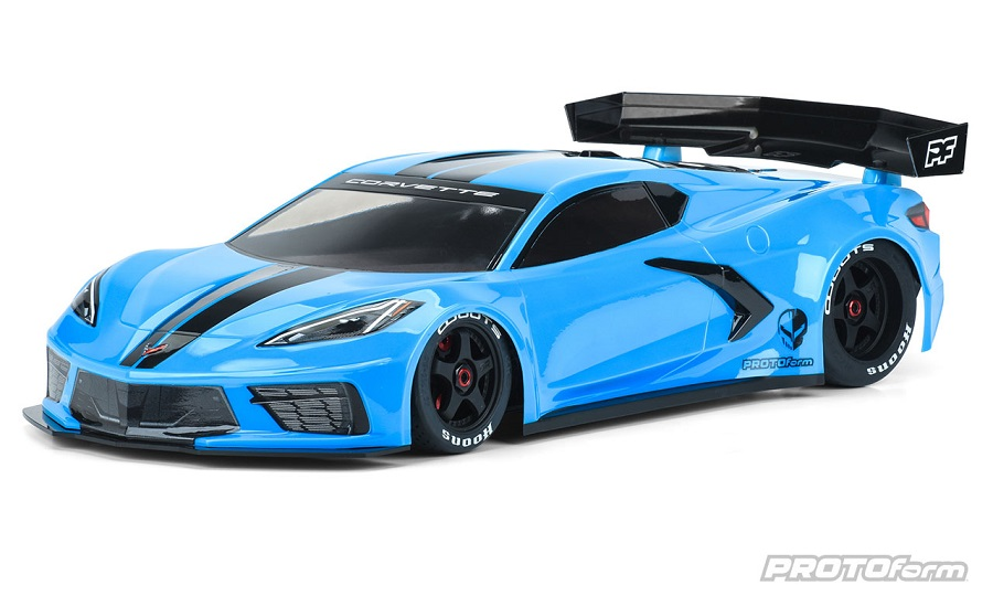 Chevrolet Corvette C8 Clear Body For The ARRMA Felony & Infraction