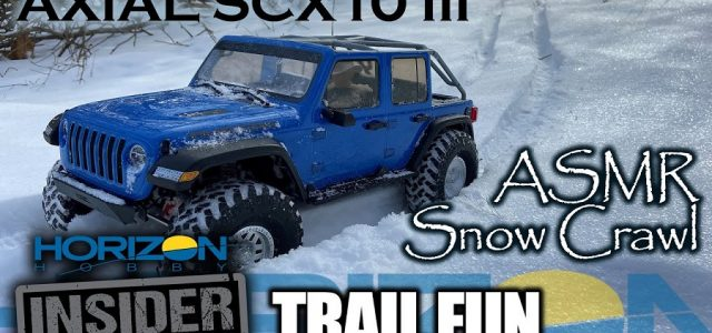SCX10 III – ASMR Snow Crawl – Horizon Insider Trail Fun [VIDEO]