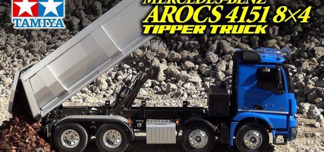 Tamiya 1/14 Mercedes-Benz Arocs 4151 8×4 Tipper Truck [VIDEO]