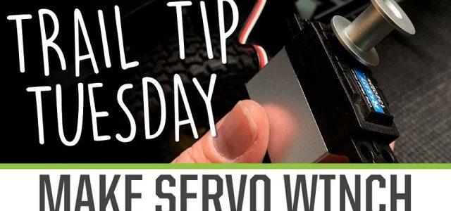 Trail Tip Tuesday: Convert Servo To A Winch [VIDEO]