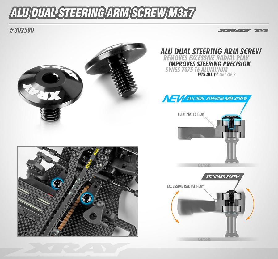 XRAY Alu Dual Steering Arm Screws