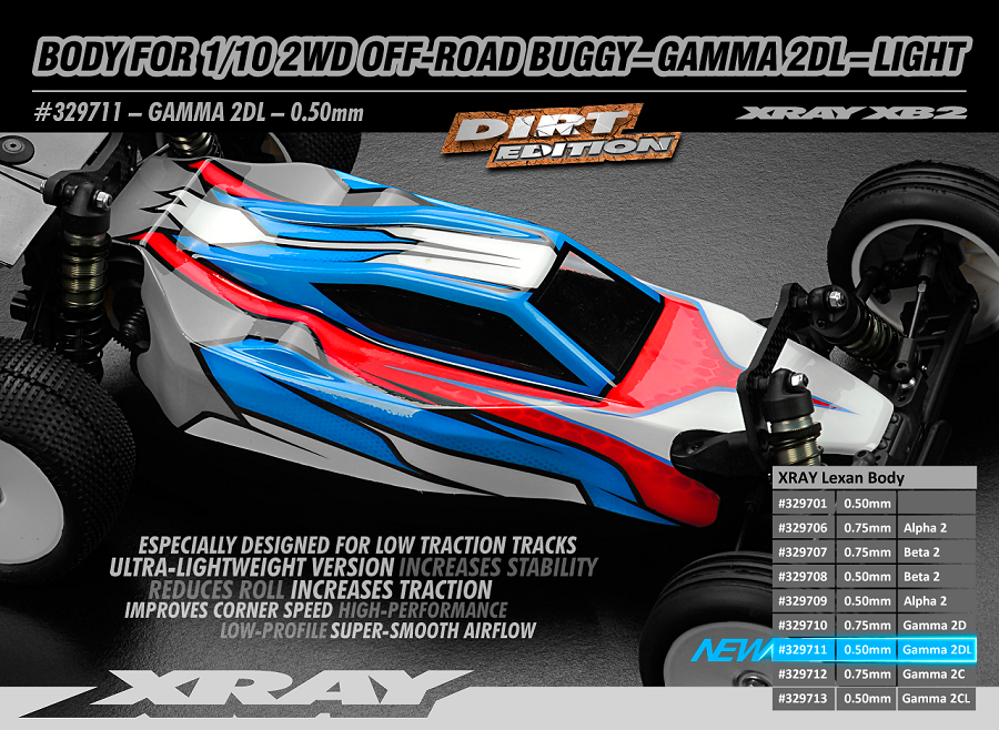 XRAY Gamma 2D Light Clear Body For The XB2