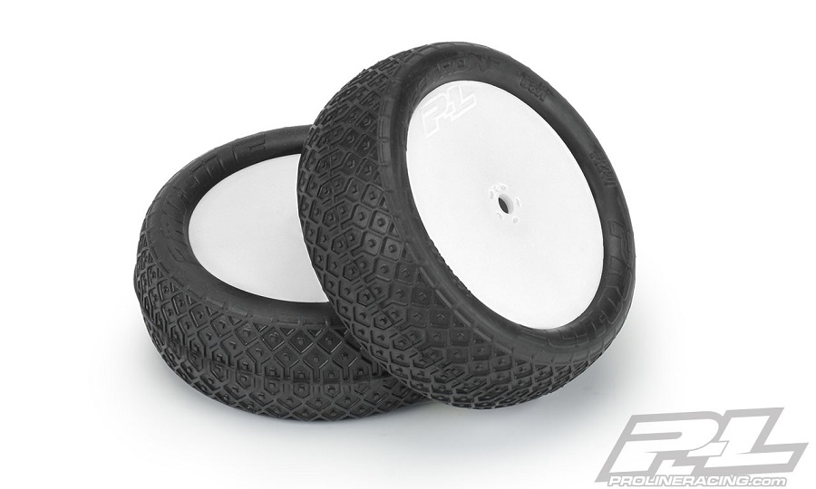 """Pro-Line Pre-Mounted Electron 2.2"""" 2WD/4WD MC Tires On Velocity Wheels"""