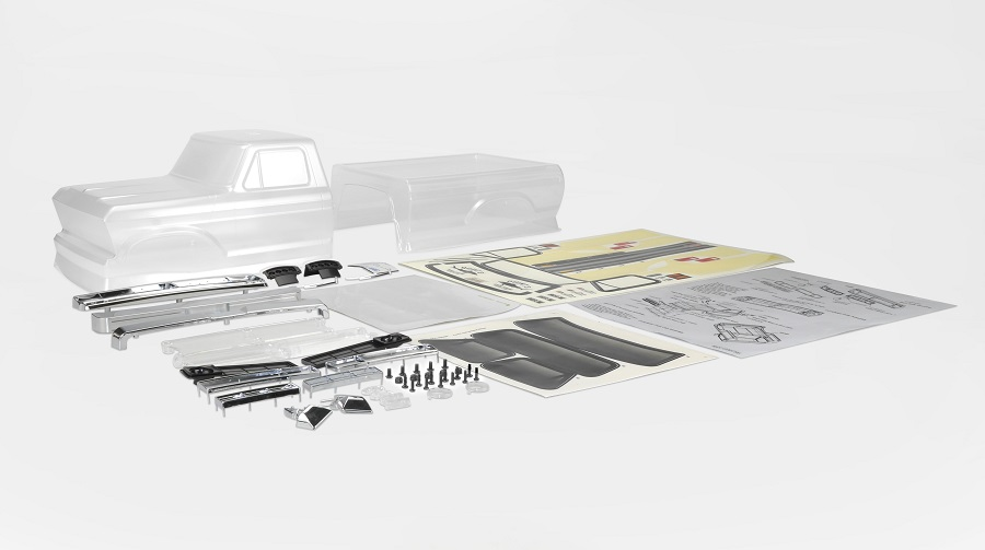 Carisma SCA-1E 1976 Ford F-150 (Half Cab) 2-Piece Clear Body Set